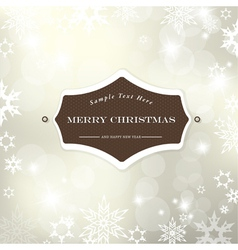 christmas silver background vector image