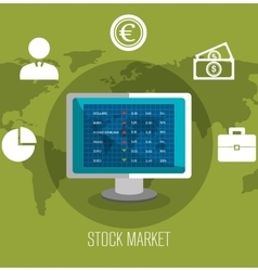 Stock financial market design vector