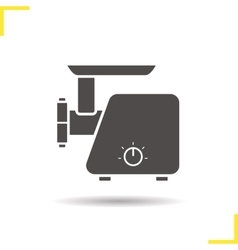 Electric mincer icon vector