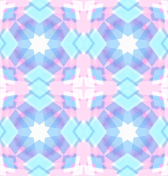 Abstract geometric snowflake star pattern vector image vector image