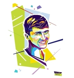 Abstract portrait young man Style wpap vector image
