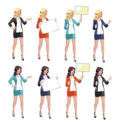 Beautiful Secretary vector image