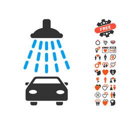 Car shower icon with valentine bonus vector