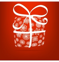 Christmas gift box made from snowflakes eps8 vector