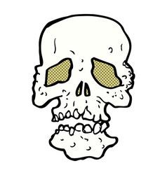 comic cartoon skull vector image vector image
