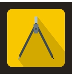 Compass tool icon in flat style vector