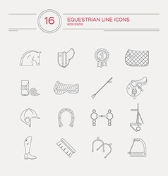 Equestrian icons vector