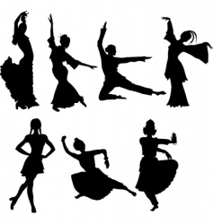 folk dancers vector image