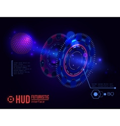 Futuristic hud interface elements vector