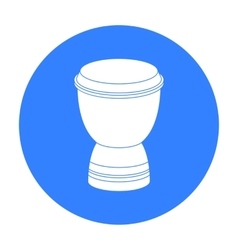 Goblet drum icon in black style isolated on white vector