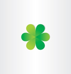 green leafs clover abstract symbol vector image vector image