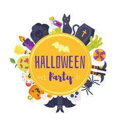 halloween banner template design vector image vector image