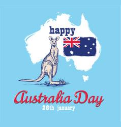 happy australia day 26 january vector image vector image