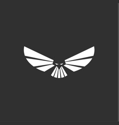 Heavenly predator logo in minimalism modern flat vector