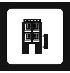 Hotel 5 stars icon simple style vector
