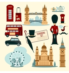 London Touristic Set vector image vector image
