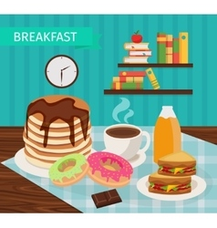 Meal Tower Breakfast Poster vector image vector image