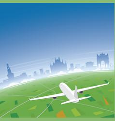 milan skyline flight destination vector image