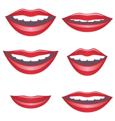 Mouths vector image
