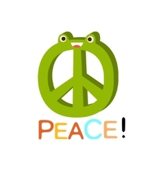 Peace word and corresponding cartoon vector