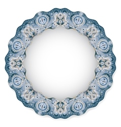 Plate with circular ornament vector