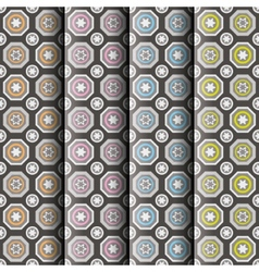 seamless patterns collection vector image