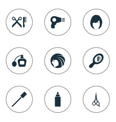 set of simple beauty icons vector image