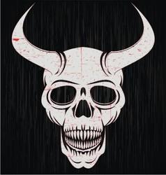 Skulls of demon vector