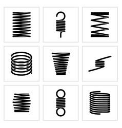 steel wire flexible spiral coils spring vector image