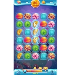 Sweet world mobile gui playing field vector