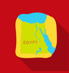 Territory of egypt icon in flat style isolated on vector