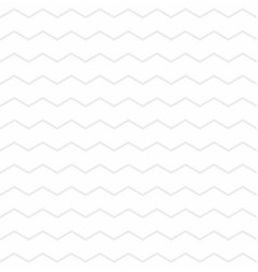 tile pattern with grey zig zag on white background vector image