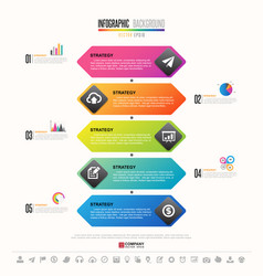 timeline infographics design template vector image