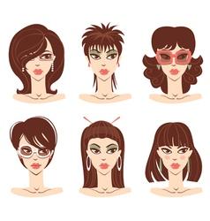 woman portraits vector image vector image