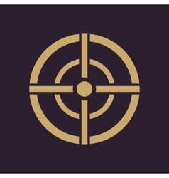 The aim bag icon crosshair and target sight vector
