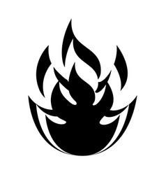 Fire flame isolated icon vector