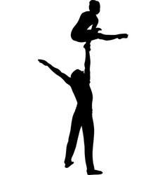 Gymnasts acrobats gymnasts circus gymnasts vector