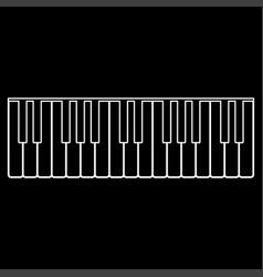 Piano keys white color path icon vector