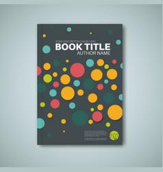 Modern abstract brochure design template vector
