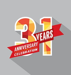 31st years anniversary celebration design vector