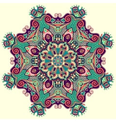 Beautiful vintage circular pattern of arabesques vector