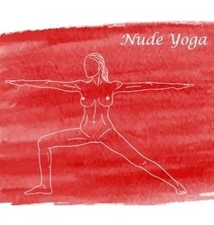 Nude yoga vector