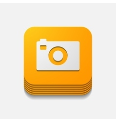 Square button photo vector
