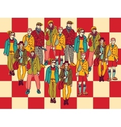 Politics chessboard group people color vector