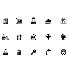 Hotel concept icons vector