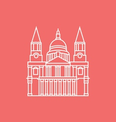 St paul s cathedral vector