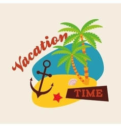 Summer design holidays icon colorful vector