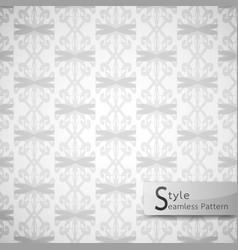 Abstract seamless pattern damask mesh bow ribbon vector