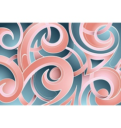 Abstract tribal-inspired background vector image