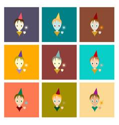assembly flat child sparkler vector image vector image